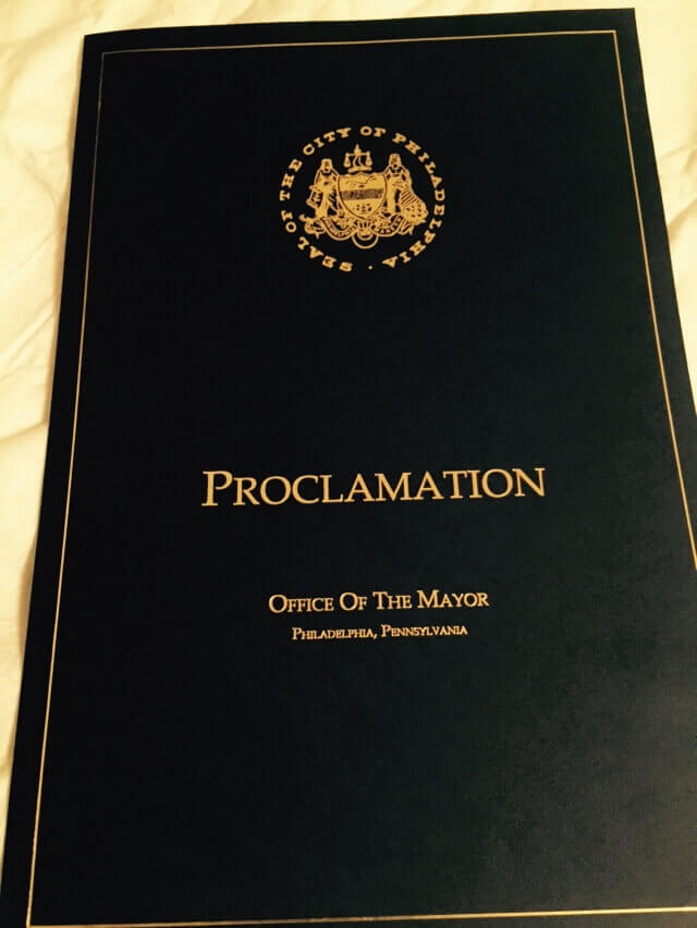 Proclamation Mayor 1